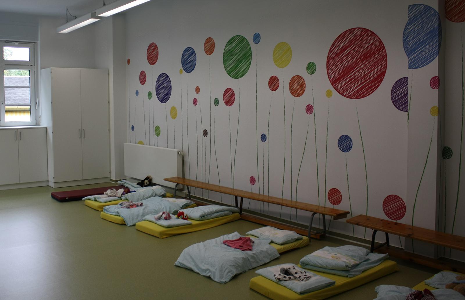 Wandgestaltung Kindergarten